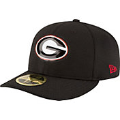 New Era Men's Georgia Bulldogs Black Bevel Team Low Profile 59Fifty Hat