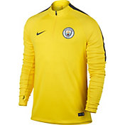 Nike Manchester City Yellow Quarter Zip Drill Top