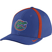 Nike Men's Florida Gators Blue Aerobill Swoosh Flex Classic99 Football Sideline Hat
