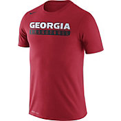 Nike Men's Georgia Bulldogs Red Basketball Practice Legend T-Shirt