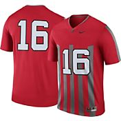 Nike Men's Ohio State Buckeyes #16 Scarlet Throwback Legend Football Jersey