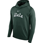 Nike Men's Michigan State Spartans Green Circuit Basketball Hoodie
