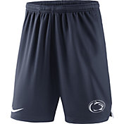 Nike Men's Penn State Nittany Lions Blue Knit Football Sideline Performance Shorts