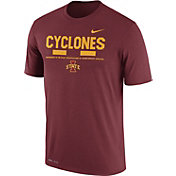 Nike Men's Iowa State Cyclones Cardinal Football Staff Legend T-Shirt