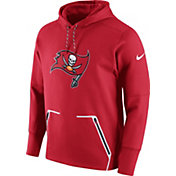 Nike Men's Tampa Bay Buccaneers Sideline 2016 Vapor Speed Fleece Red Pullover Hoodie
