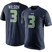 Nike Men's Seattle Seahawks Russell Wilson #3 Pride Navy T-Shirt