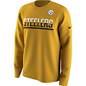Nike Men's Pittsburgh Steelers Team Practice Performance Gold Long Sleeve Shirt