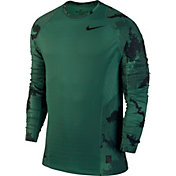 Nike Men's Pro Hyperwarm Topo Buzz Printed Long Sleeve Shirt