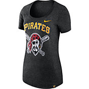 Nike Women's Pittsburgh Pirates Marled Black Boyfriend Scoop Neck T-Shirt