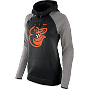 Nike Women's Baltimore Orioles Grey Therma Pullover Hoodie