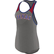 Nike Women's Texas Rangers Dri-FIT Grey Wordmark Tank Top