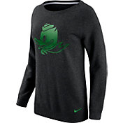 Nike Women's Oregon Ducks Champ Drive Boyfriend Crew Black Sweatshirt
