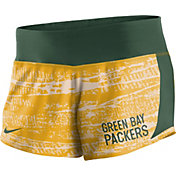 Nike Women's Green Bay Packers Crew Gold Performance Shorts