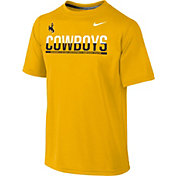 Nike Youth Wyoming Cowboys Gold Legend Staff Sideline T-Shirt