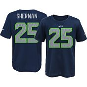 Nike Youth Seattle Seahawks Richard Sherman #25 Navy T-Shirt