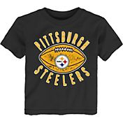NFL Team Apparel Toddler Pittsburgh Steelers Place Kicker T-Shirt