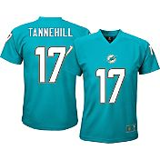 NFL Team Apparel Youth Miami Dolphins Ryan Tannehill #17 Aqua T-Shirt