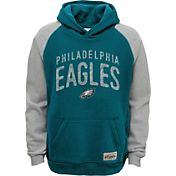 NFL Team Apparel Youth Philadelphia Eagles Foundation Teal Hoodie