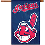 Party Animal Cleveland Indians Applique Banner Flag