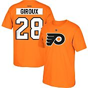 Reebok Men's Philadelphia Flyers Claude Giroux #28 Replica Orange Player T-Shirt
