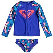 Roxy Little Girls' Tropics Long Sleeve Rash Guard Set