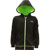 STX Boys' Hi-Tech Full-Zip Embossed Hoodie