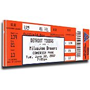 That's My Ticket Detroit Tigers Justin Verlander No Hitter Mega Ticket