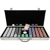 Trademark Poker 650 Dice Striped Chip Poker Set and Case