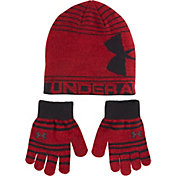 Under Armour Little Boys' Knit Beanie and Gloves – Combo Pack