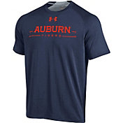 Under Armour Men's Auburn Tigers Blue Charged Cotton T-Shirt