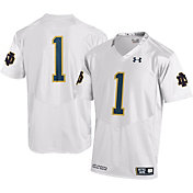 Under Armour Men's Notre Dame Fighting Irish #1 Replica White Football Jersey