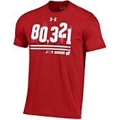 Under Armour Men's Wisconsin Badgers Red '80321' T-Shirt