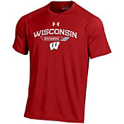 Under Armour Men's Wisconsin Badgers Red On Field Performance T-Shirt