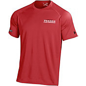 Under Armour NFL Combine Authentic Men's Houston Texans Wordmark Tech Red Performance T-Shirt