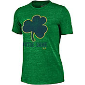 Under Armour Women's Notre Dame Fighting Irish Green Triblend T-shirt