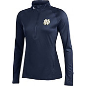 Under Armour Women's Notre Dame Fighting Irish Navy UA Tech Quarter-Zip Shirt