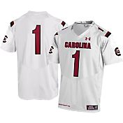 Under Armour Youth South Carolina Gamecocks #1 Replica White Football Jersey