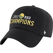 '47 Men's 2017 NBA Champions Golden State Warriors Clean-Up Black Adjustable Hat