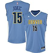adidas Youth Denver Nuggets Nikola Jokic #15 Road Light Blue Replica Jersey