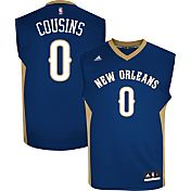 adidas Youth New Orleans Pelicans DeMarcus Cousins #0 Road Navy Replica Jersey