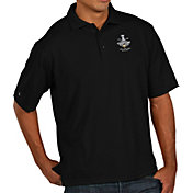 Antigua Men's 2017 NHL Stanley Cup Champions Pittsburgh Penguins Pique Xtra-Lite Black Polo
