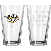Boelter Nashville Predators 16oz. Satin Etched Pint Glass