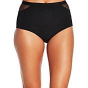 CALIA by Carrie Underwood Women's Mesh Piece High Waist Bikini Bottoms