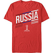 Fifth Sun Men's FIFA 2017 Confederations Cup Russia Stripes Red Crew T-Shirt