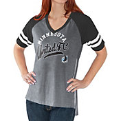 G-III For Her Women's Minnesota United FC Fastball Black T-Shirt