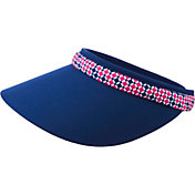 Lady Hagen Women's Bon Voyage Collection Checker Print Wide Brim Golf Visor