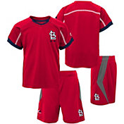 Majestic Boys' St. Louis Cardinals Cool Base Legacy Shorts & Top Set
