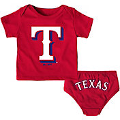 Majestic Infant Texas Rangers 2-Piece Mini Uniform Set