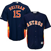 Majestic Men's Replica Houston Astros Carlos Beltran #15 Cool Base alternate navy Jersey