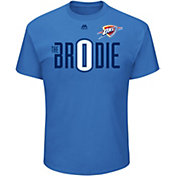 "Majestic Men's Oklahoma City Thunder Russell Westbrook ""Br0die"" Blue T-Shirt"